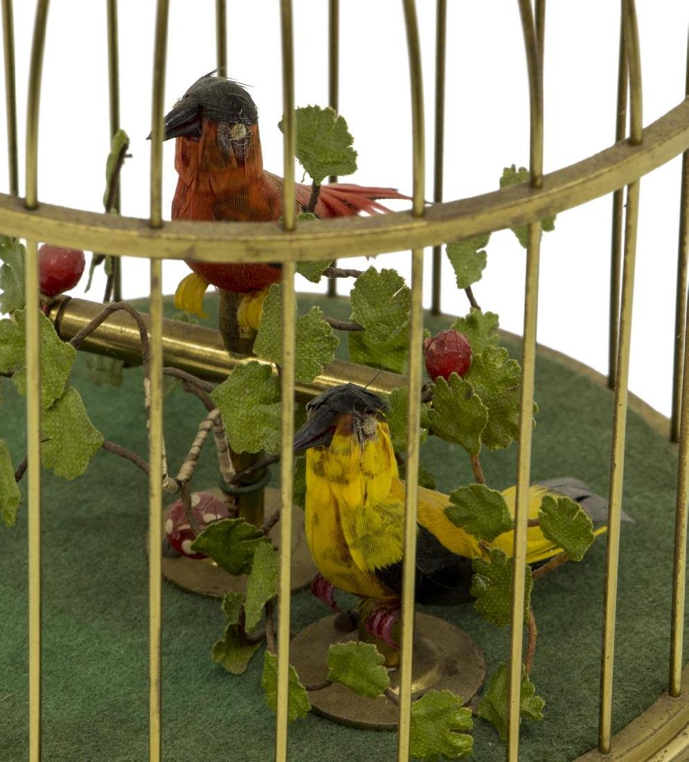AUTOMATON SINGING BIRDS IN CAGE - 3