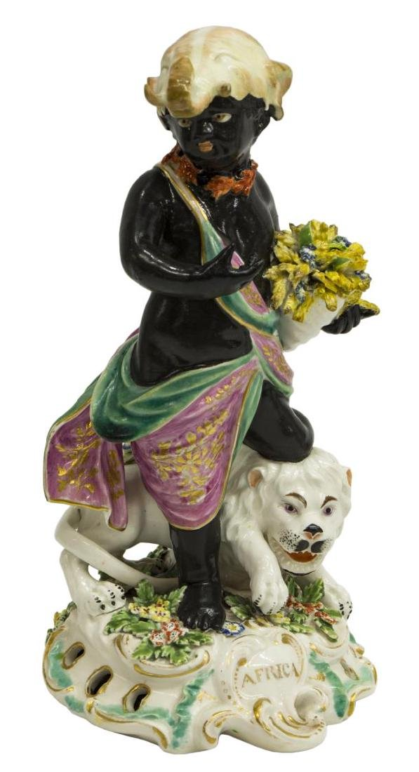 (4) DERBY PORCELAIN ALLEGORICAL FIGURES CONTINENTS - 3