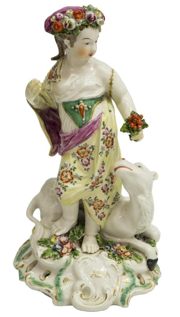 (4) DERBY PORCELAIN ALLEGORICAL FIGURES CONTINENTS - 5