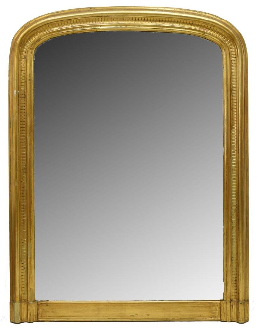 MONUMENTAL CHARLES X STYLE GILTWOOD WALL MIRROR
