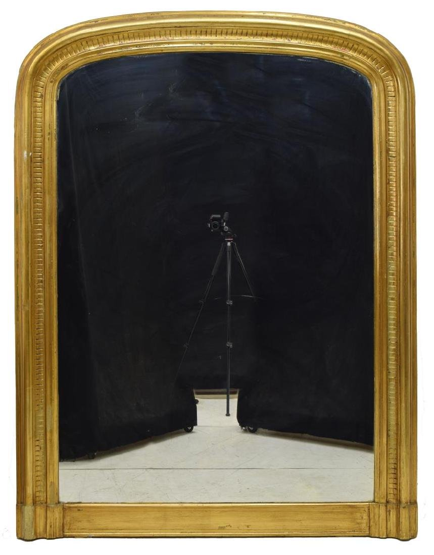 MONUMENTAL CHARLES X STYLE GILTWOOD WALL MIRROR - 2