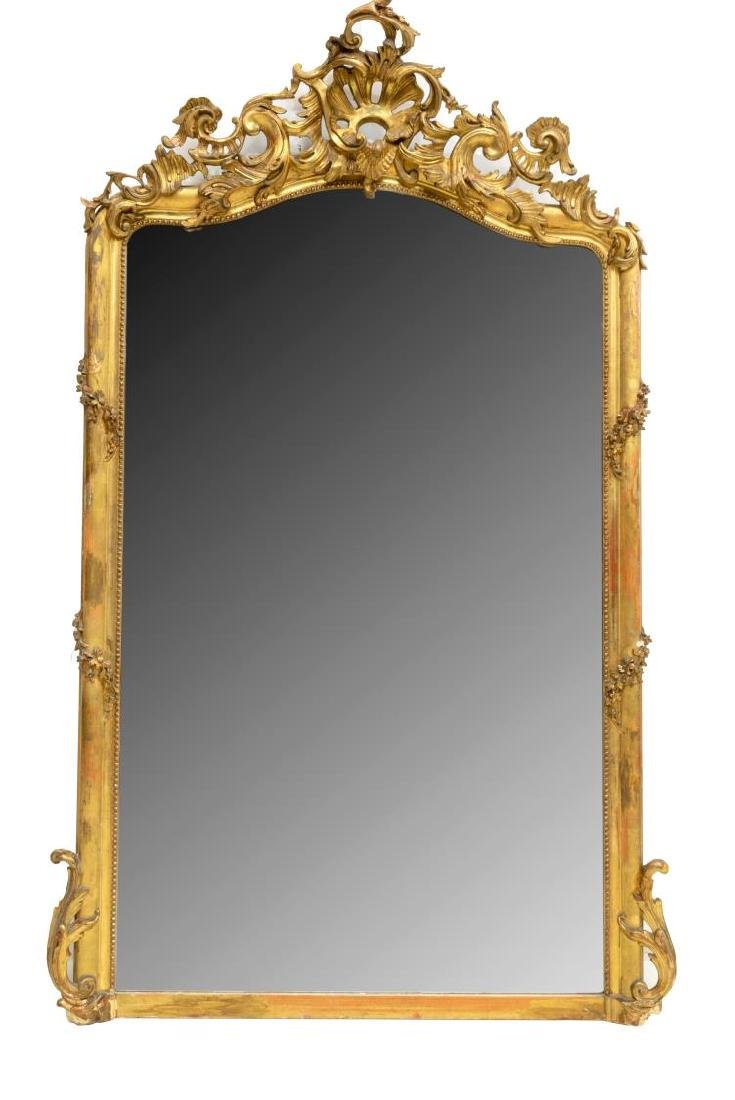 FRENCH GOLD LEAF LOUIS XV STYLE MIRROR