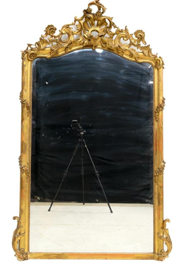 FRENCH GOLD LEAF LOUIS XV STYLE MIRROR - 2