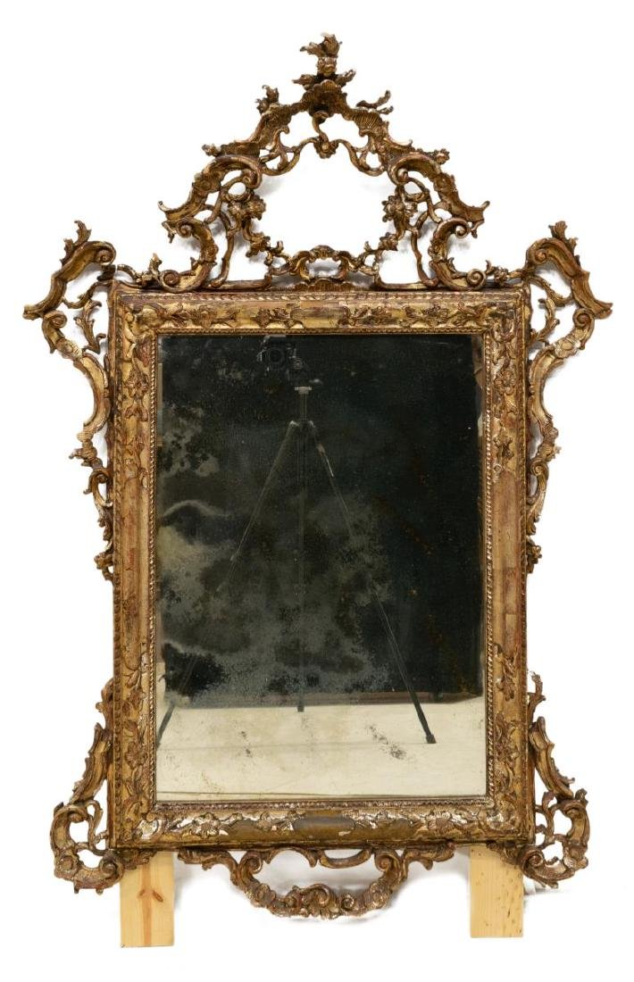 VENETIAN CARVED & SILVERED WALL MIRROR - 2
