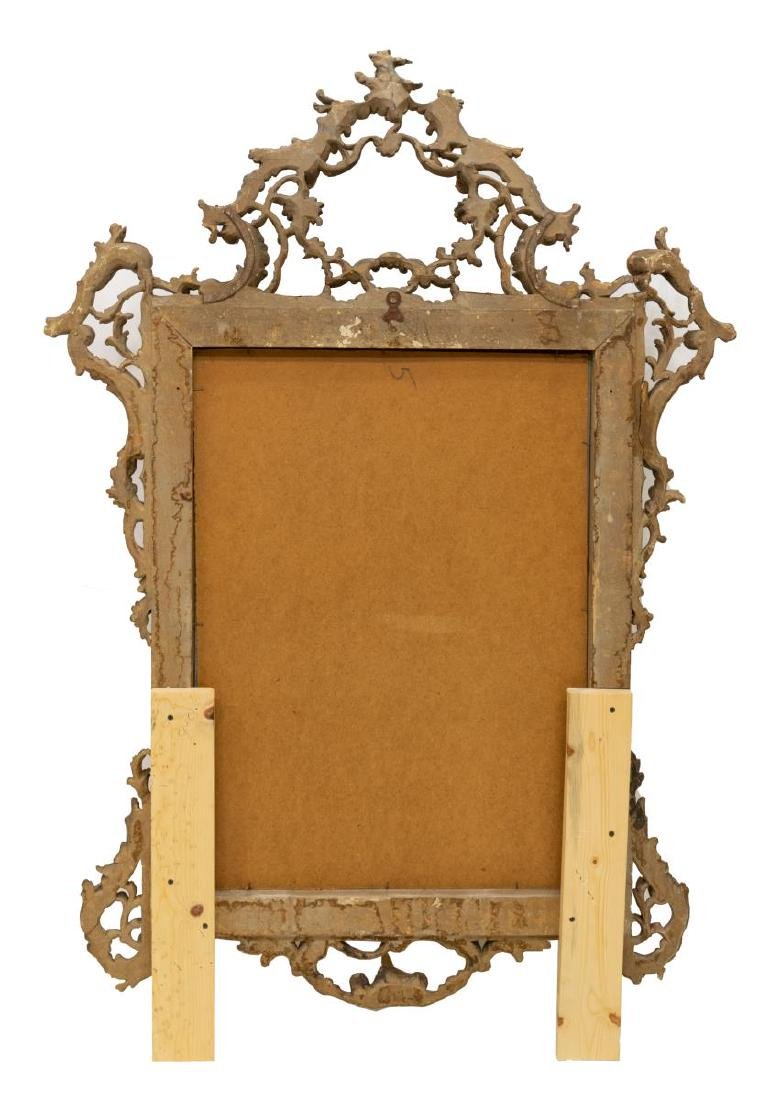 VENETIAN CARVED & SILVERED WALL MIRROR - 3
