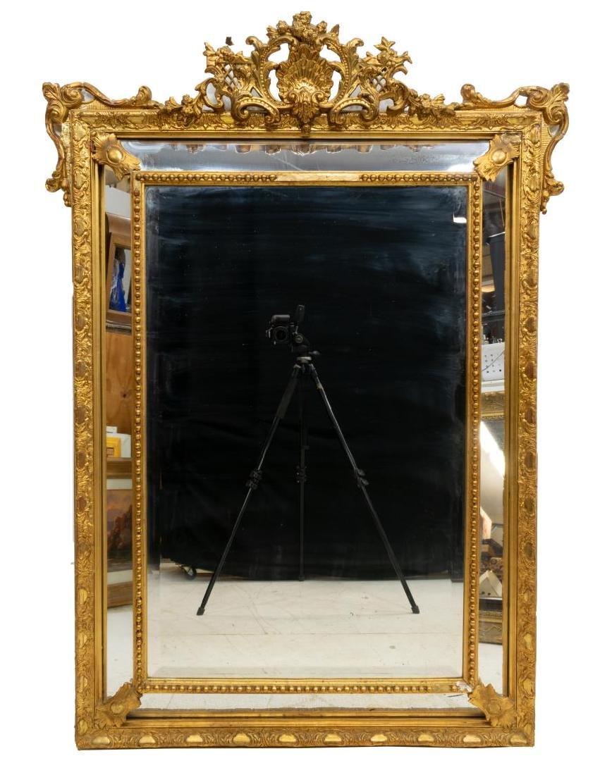 ITALIAN LOUIS XVI STYLE GILDED WALL MIRROR - 2