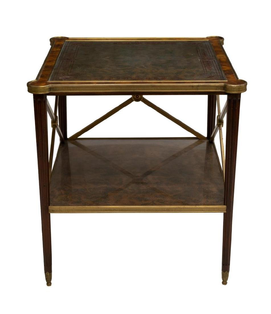 THEODORE ALEXANDER GILT METAL TRIMMED SIDE TABLE - 2