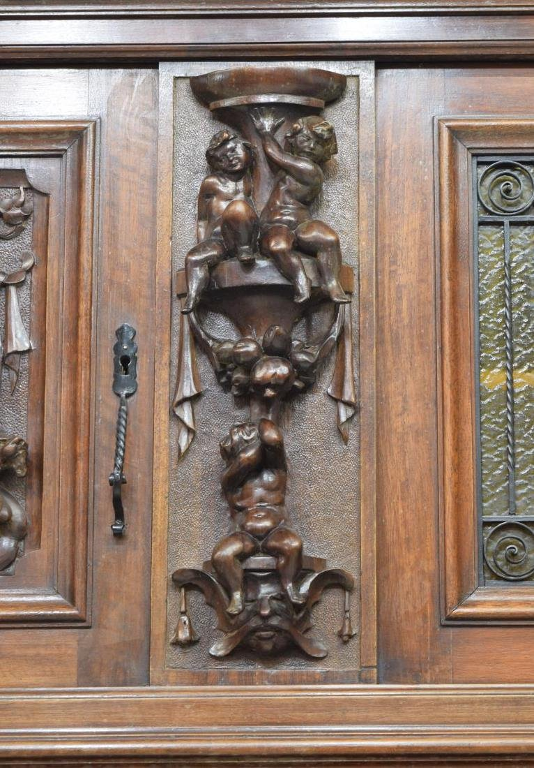 """MONUMENTAL CARVED SIDEBOARD, 36""""H FIGURES, ITALY - 6"""