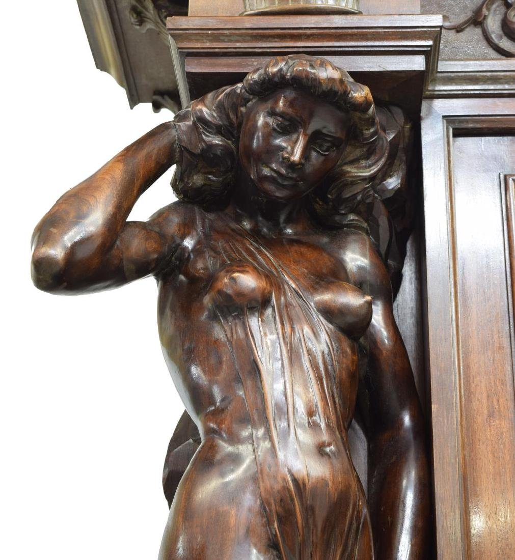 """MONUMENTAL CARVED SIDEBOARD, 36""""H FIGURES, ITALY - 8"""