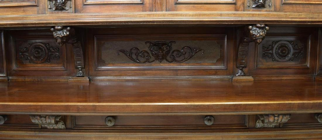 """MONUMENTAL CARVED SIDEBOARD, 36""""H FIGURES, ITALY - 9"""
