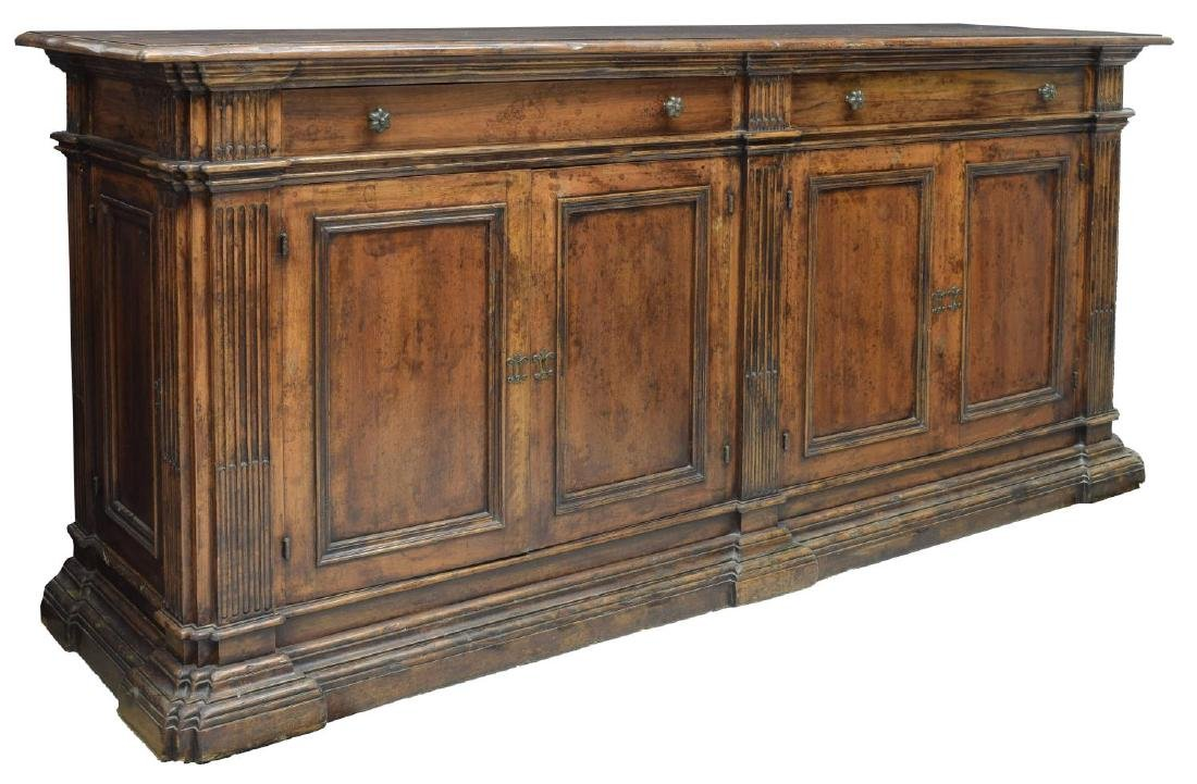 ANTIQUE FRENCH WALNUT CARVED SIDEBOARD