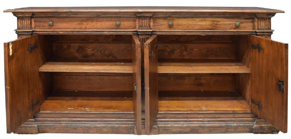 ANTIQUE FRENCH WALNUT CARVED SIDEBOARD - 2
