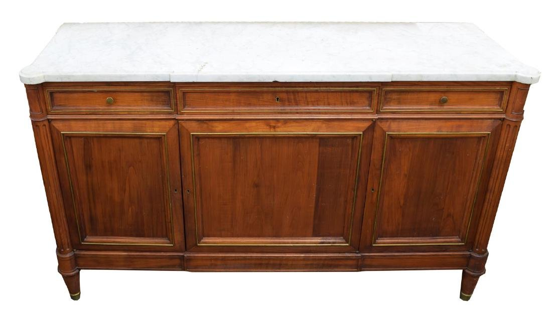 FRENCH CHERRYWOOD LOUIS XVI STYLE SIDEBOARD - 2