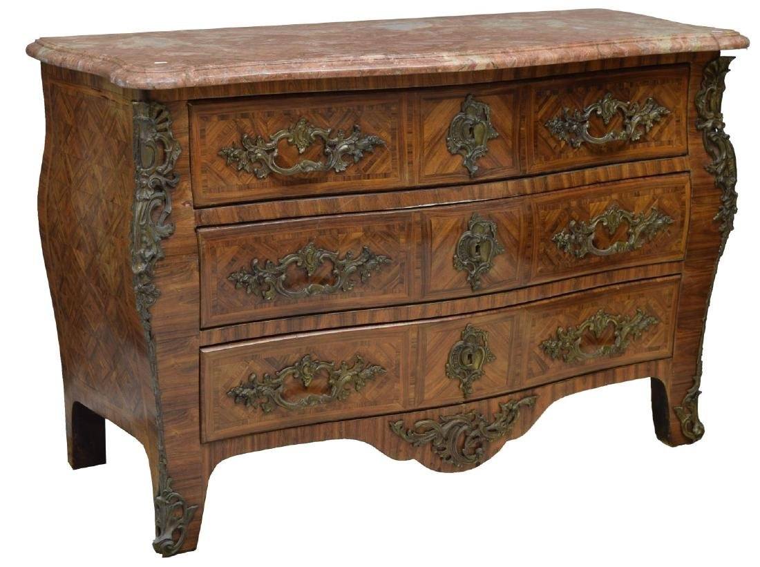 FRENCH 18TH C. REGENCE BOMBE COMMODE