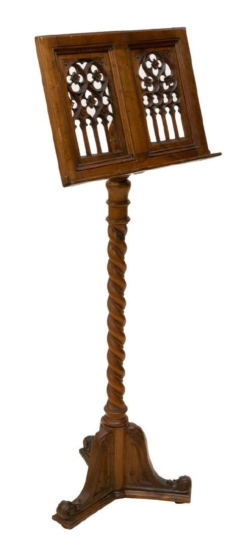 CONTINENTAL GOTHIC STYLE LECTERN OR MUSIC STAND