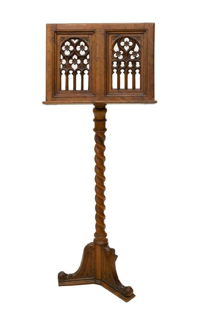 CONTINENTAL GOTHIC STYLE LECTERN OR MUSIC STAND - 2