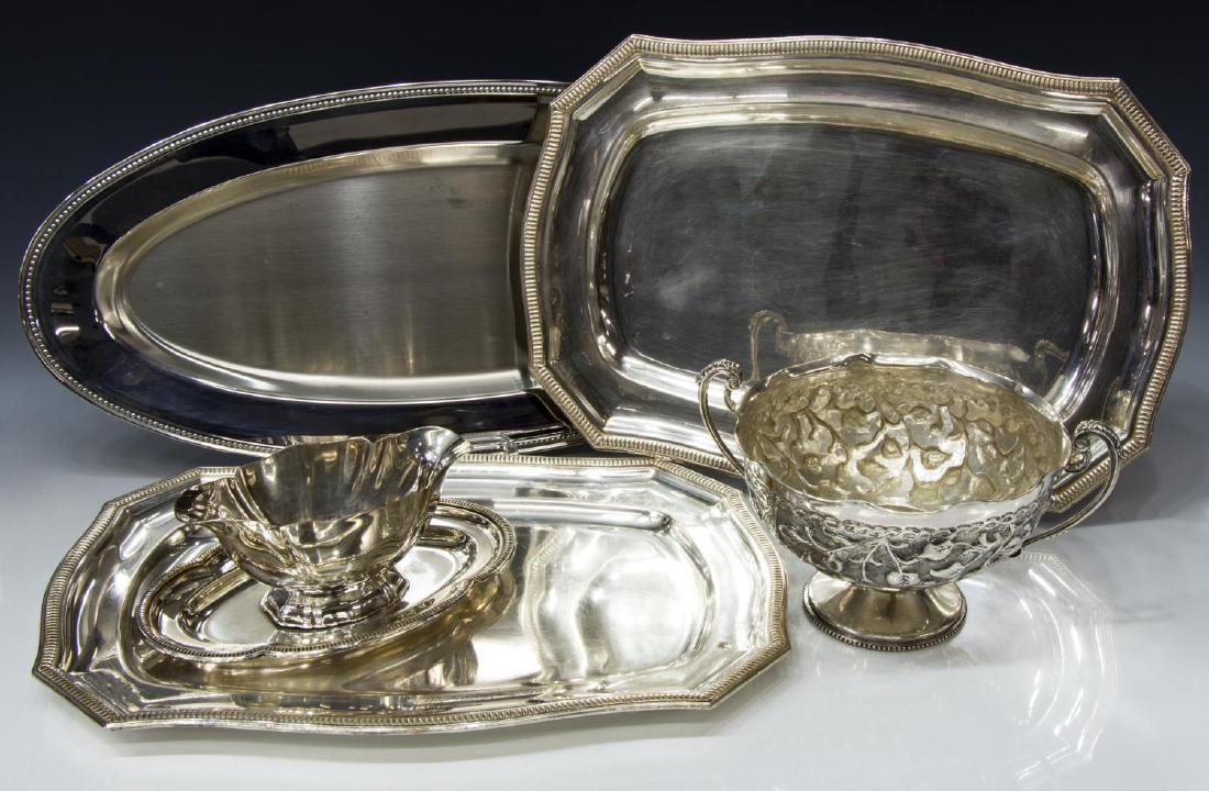 (5) COLLECTION OF SILVERPLATE SERVING PIECES