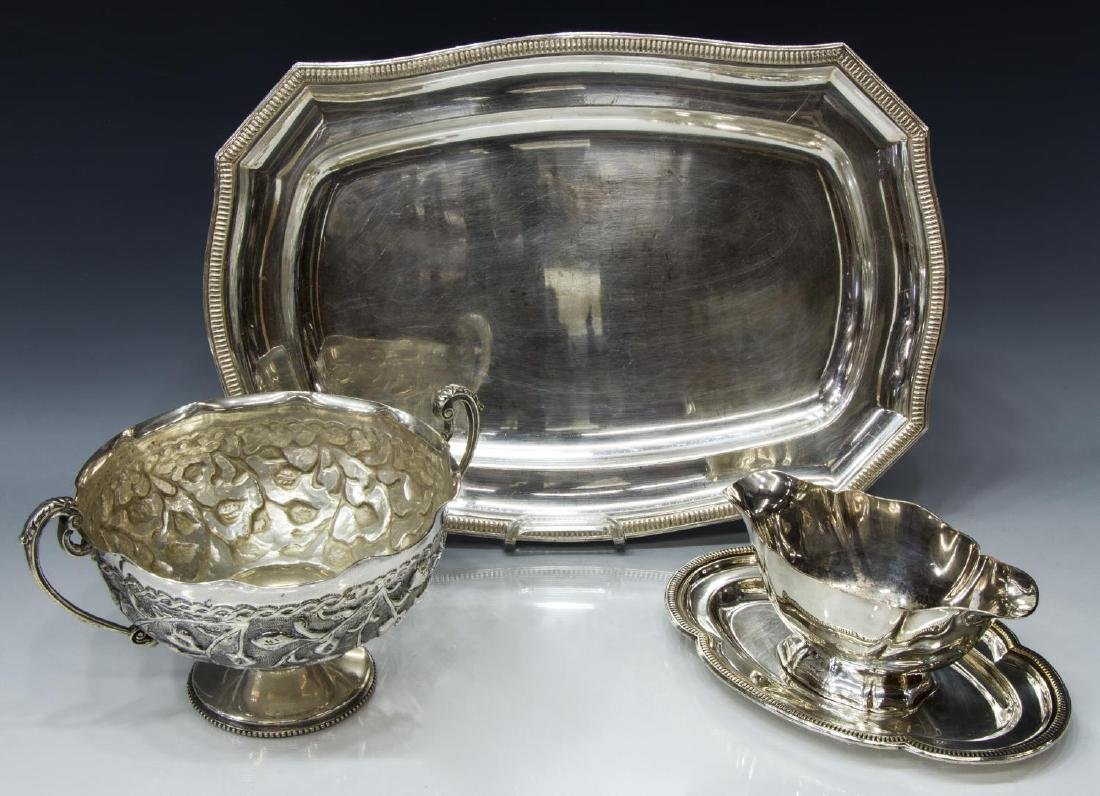 (5) COLLECTION OF SILVERPLATE SERVING PIECES - 3