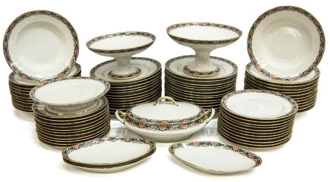 (79) FRENCH PL LIMOGES PORCELAIN DINNER SERVICE