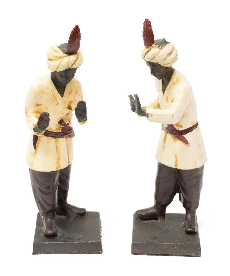(2) ORIENTALIST PATINATED BRONZE FINISH BOOKENDS