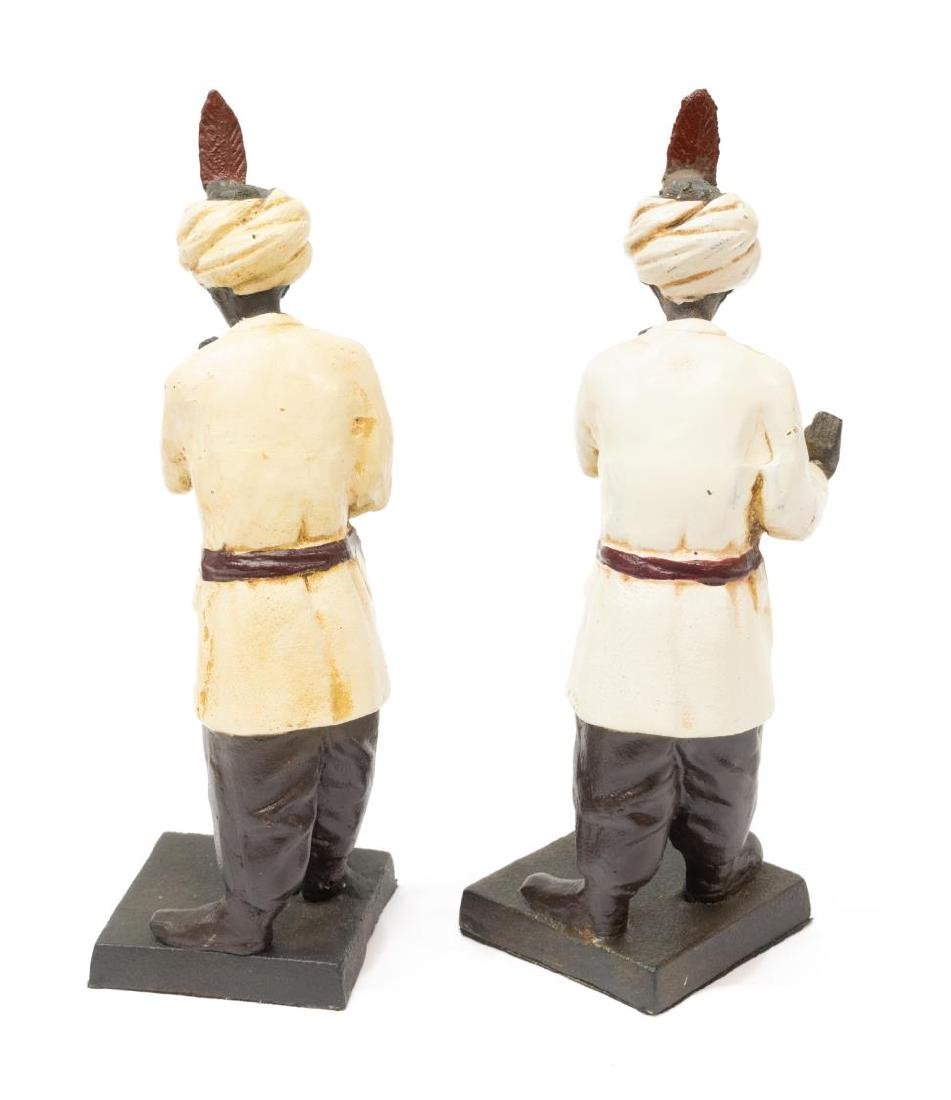 (2) ORIENTALIST PATINATED BRONZE FINISH BOOKENDS - 3