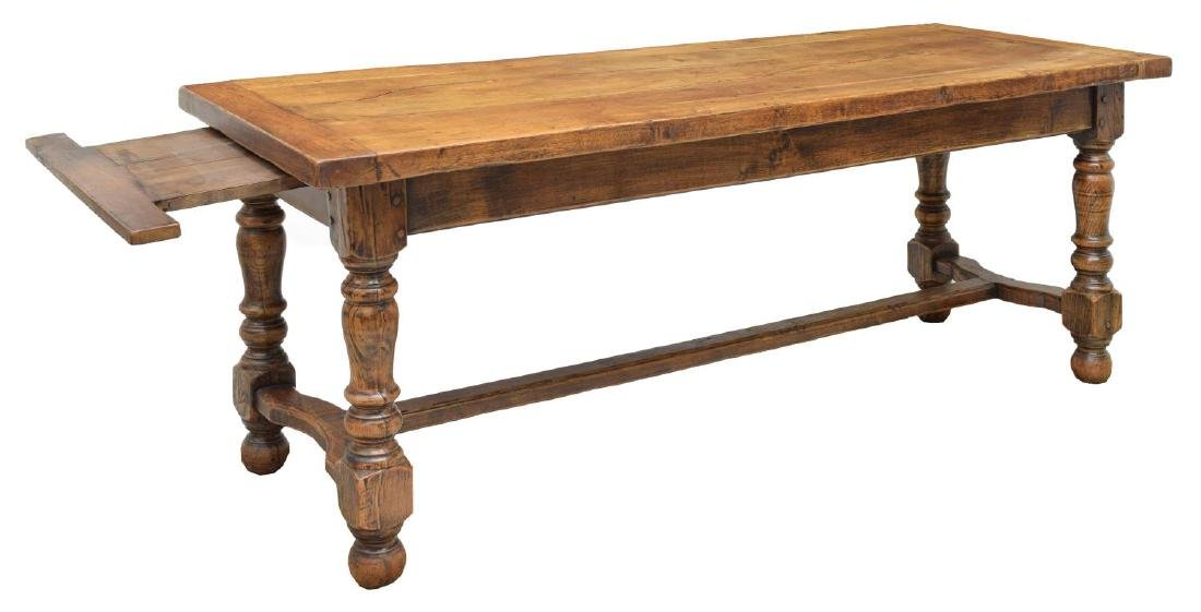 FRENCH OAK REFECTORY WORK OR DINING TABLE - 2