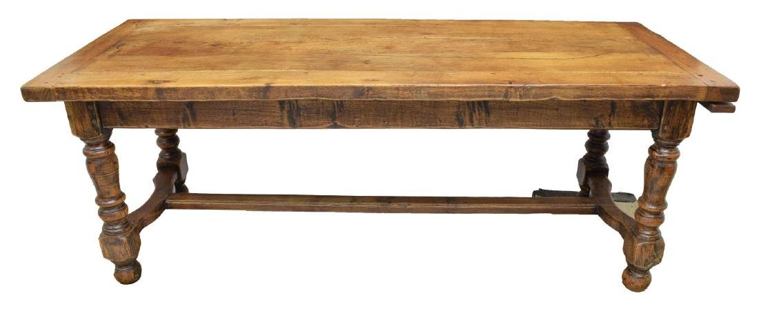 FRENCH OAK REFECTORY WORK OR DINING TABLE - 3