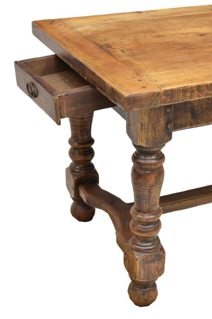FRENCH OAK REFECTORY WORK OR DINING TABLE - 4