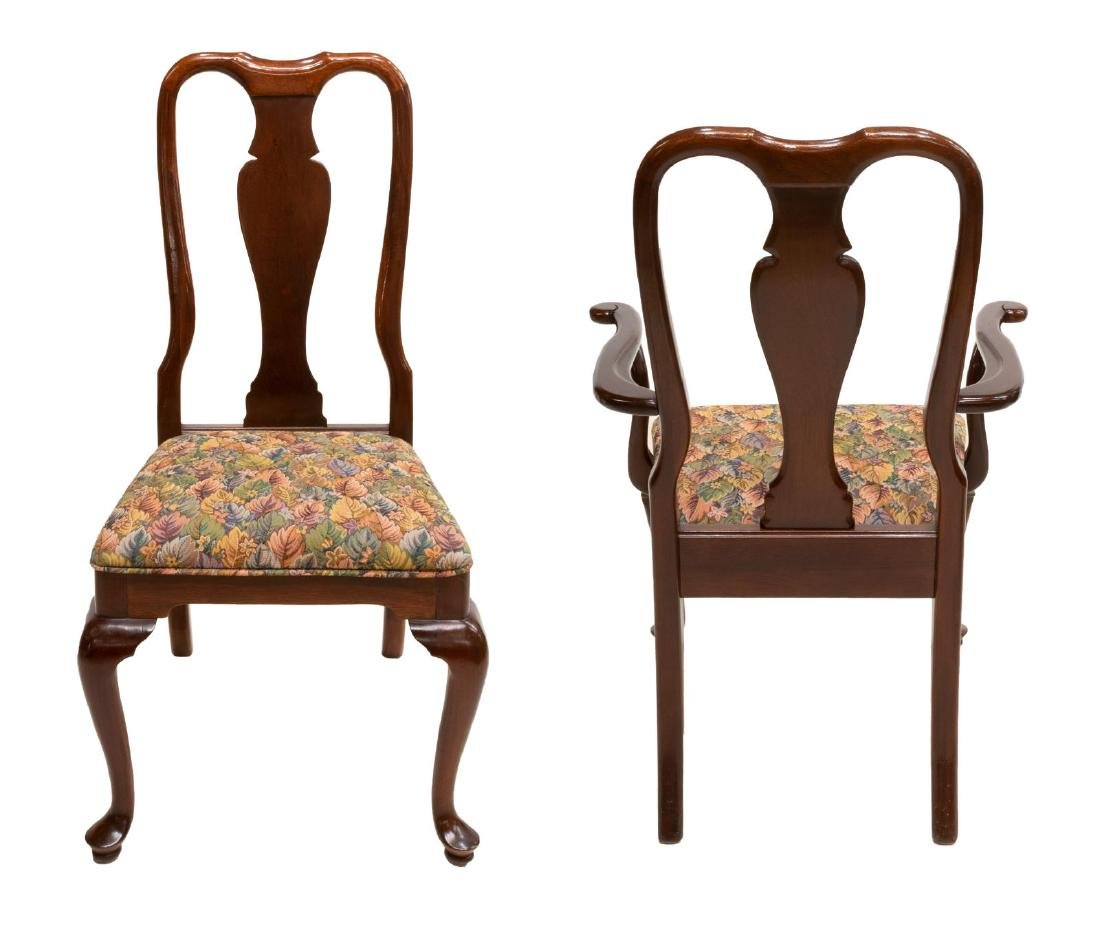 (8) HICKORY QUEEN ANNE STYLE MAHOGANY DINING CHAIR - 2