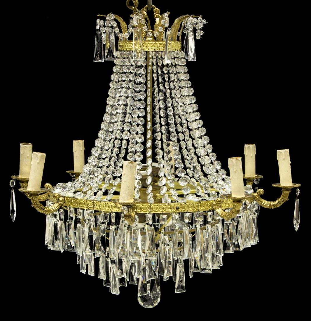CONTINENTAL EMPIRE STYLE TWELVE-LIGHT CHANDELIER