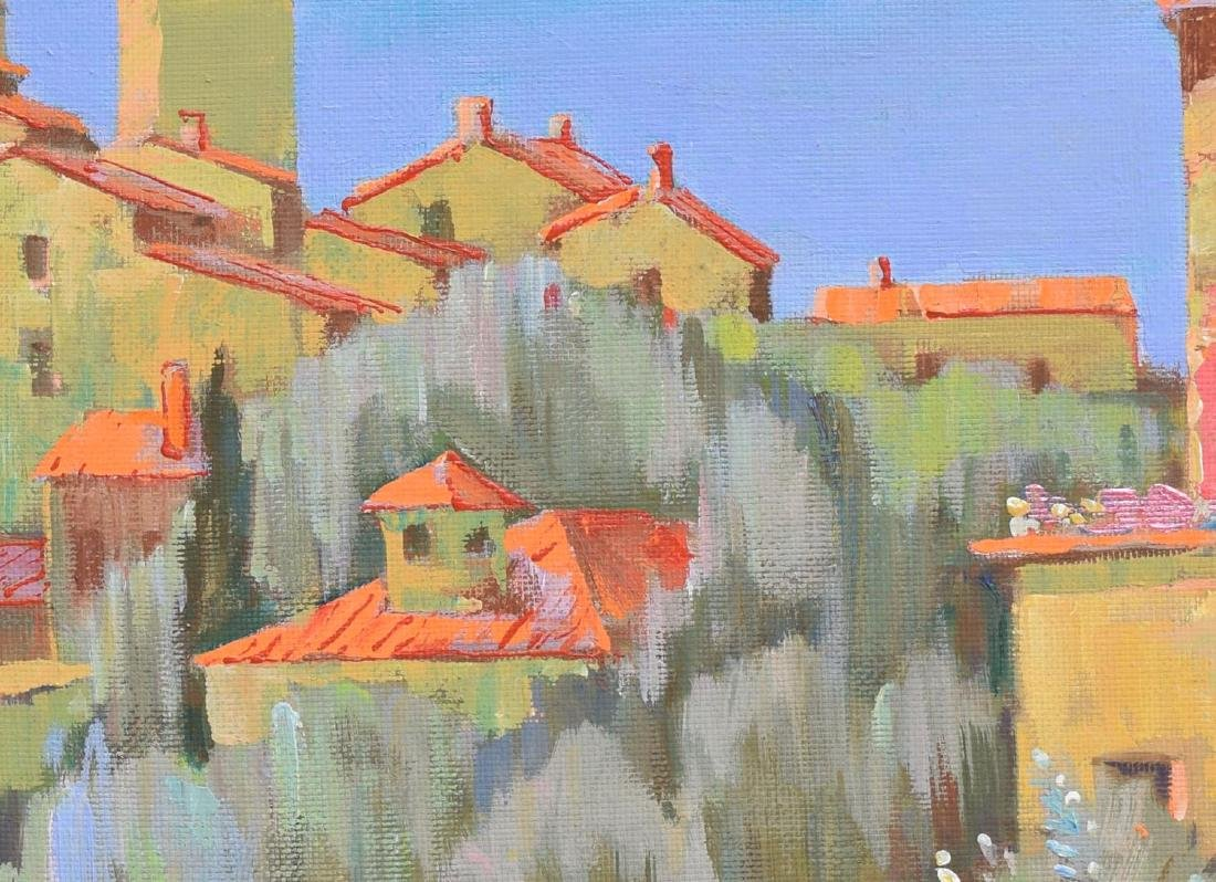 YURI VASILIEV 'SAINT PAUL DE VENCE' OIL PAINTING - 3