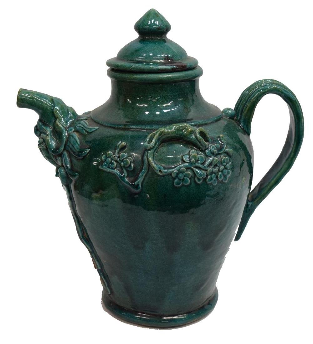 CHINESE TANG STYLE TURQUOISE CERAMIC WINE EWER - 4