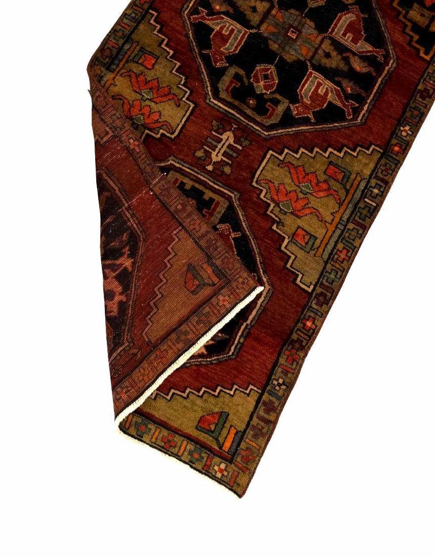"HAND-TIED PERSIAN KAZAK WOOL RUNNER, 8'5"" X 3'2"" - 2"