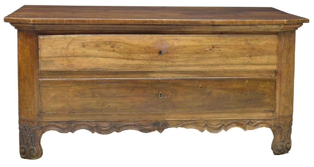 FRENCH LOUIS XIV LOW CHEST, MID 18TH C. - 2