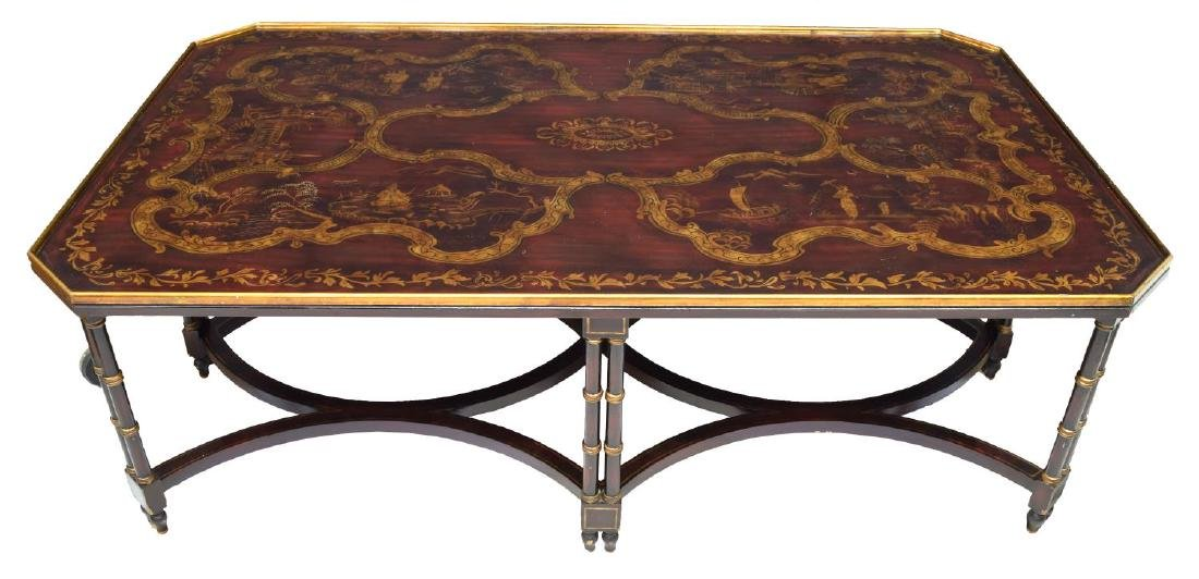 LARGE CHINESE FIGURAL ACCENTED COFFEE TABLE - 2