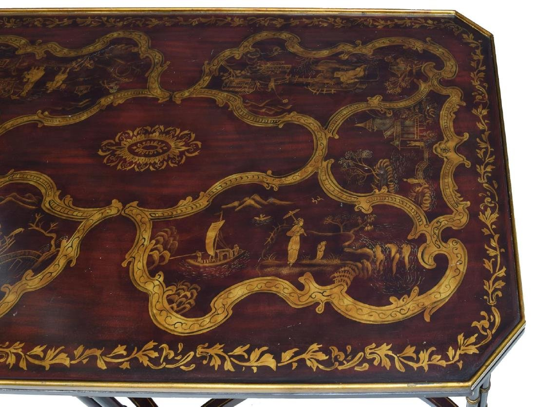 LARGE CHINESE FIGURAL ACCENTED COFFEE TABLE - 4