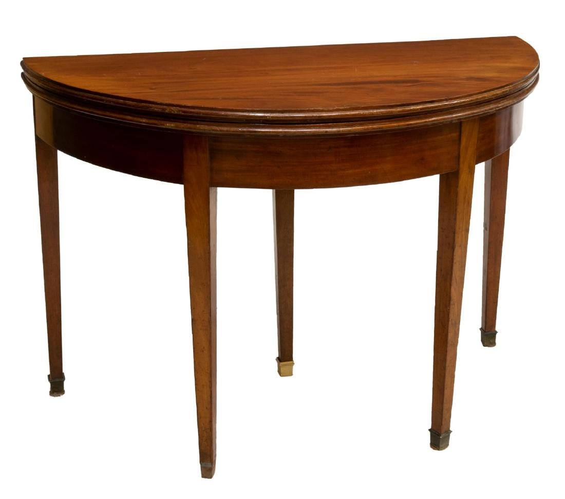 FRENCH LOUIS PHILIPPE PERIOD MAHOGANY GAME TABLE