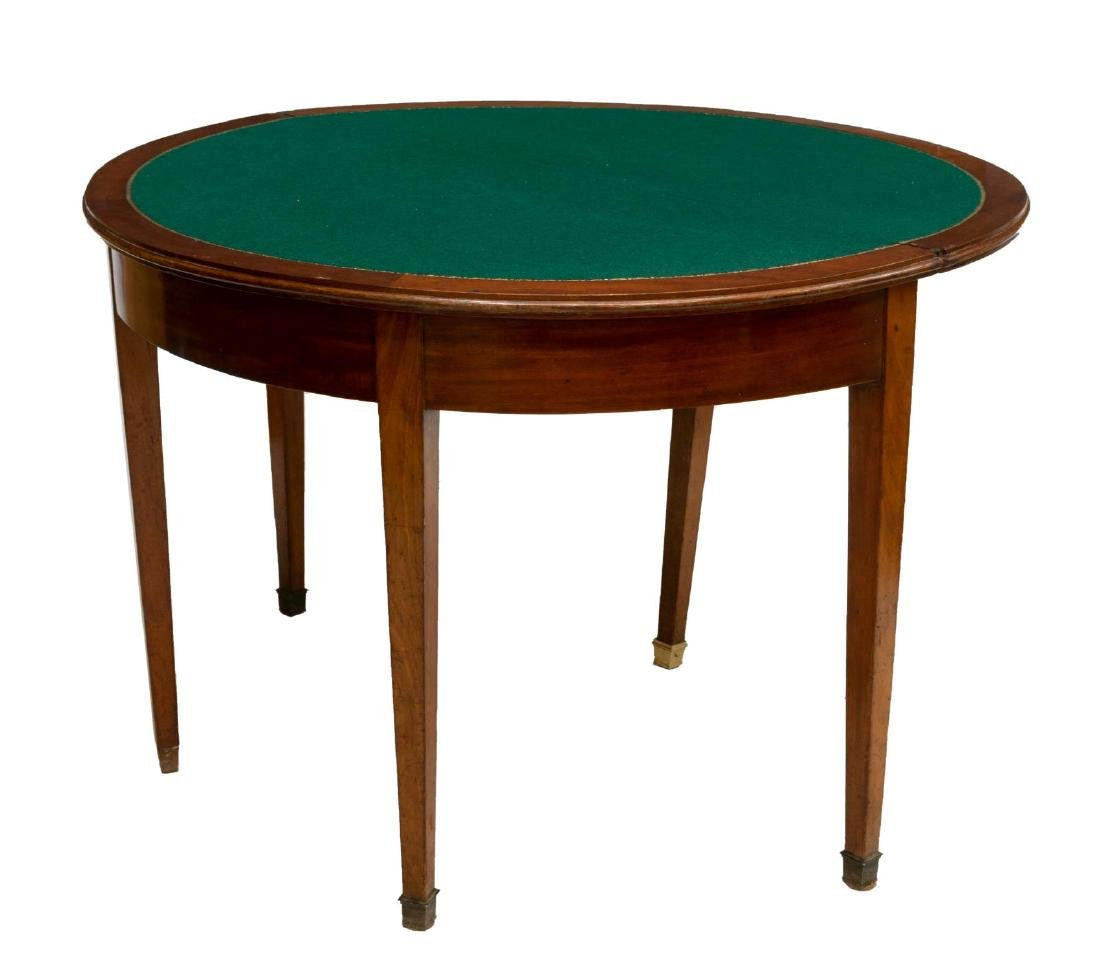 FRENCH LOUIS PHILIPPE PERIOD MAHOGANY GAME TABLE - 2