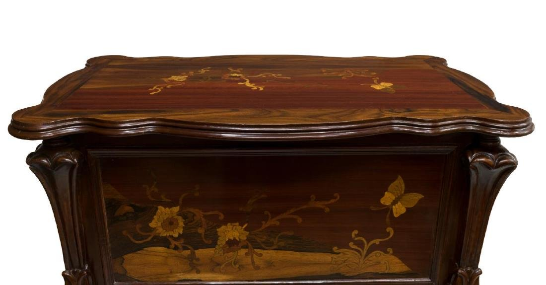FRENCH NANCY SCHOOL ART NOUVEAU MARQUETRY COMMODE - 3
