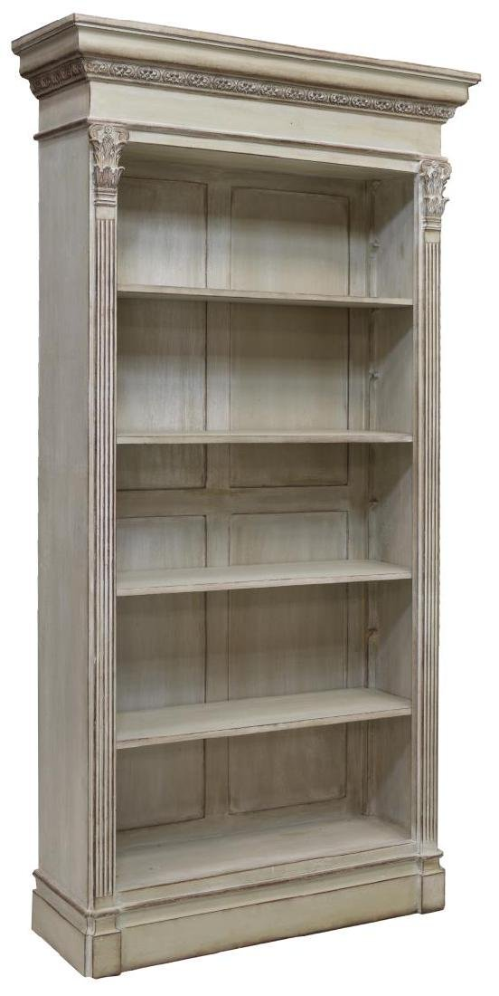 NEOCLASSICAL STYLE PAINTED FIVE-SHELF BOOKCASE