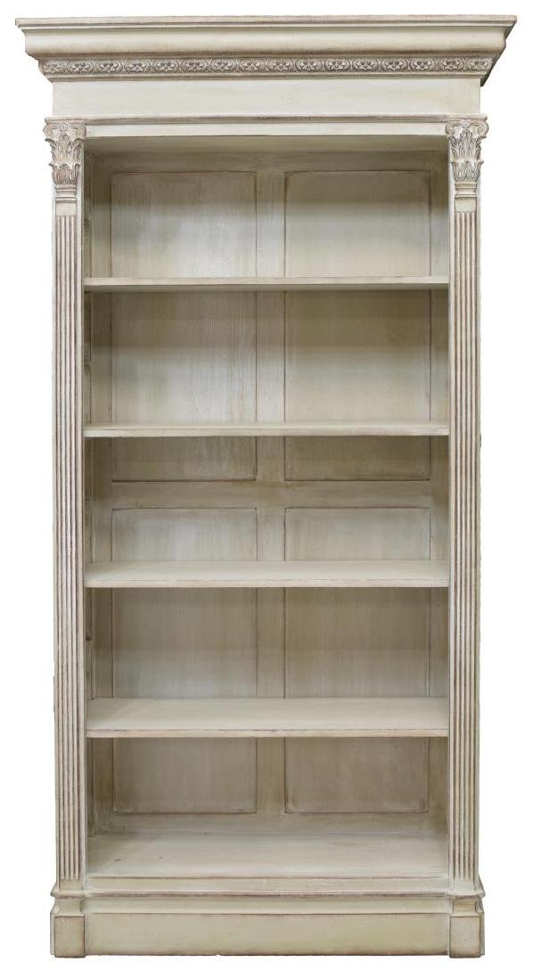 NEOCLASSICAL STYLE PAINTED FIVE-SHELF BOOKCASE - 2