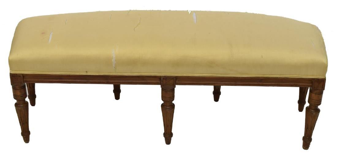 LOUIS XVI STYLE UPHOLSTERED LONG BENCH - 2