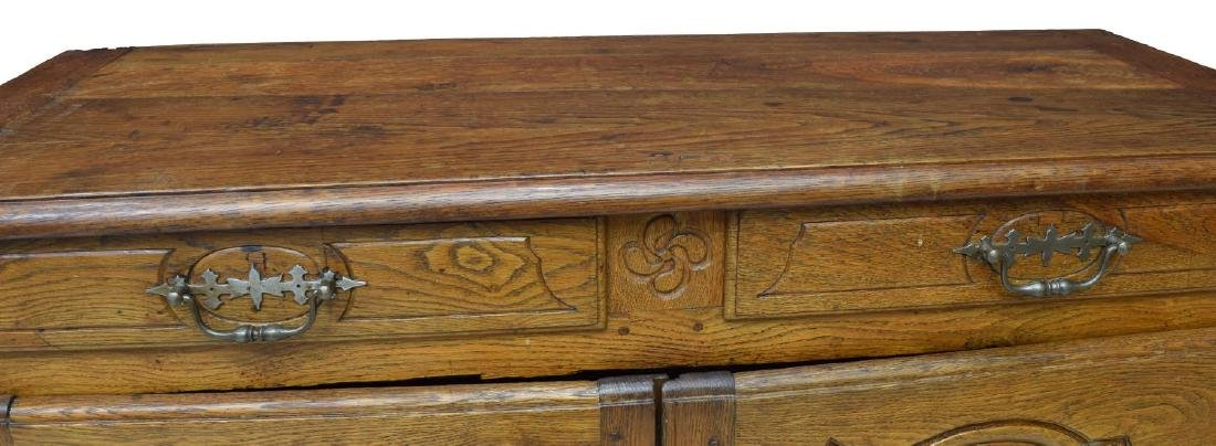 FRENCH 18TH C. LOUIS XVI OAK SIDEBOARD - 3