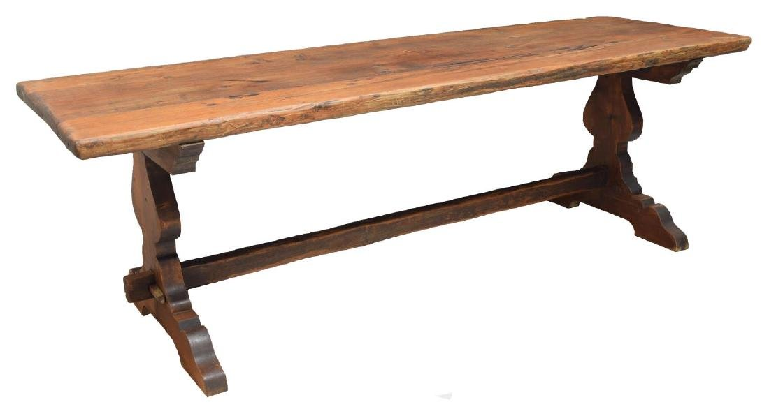 SPANISH BAROQUE STYLE TRESTLE DINING TABLE
