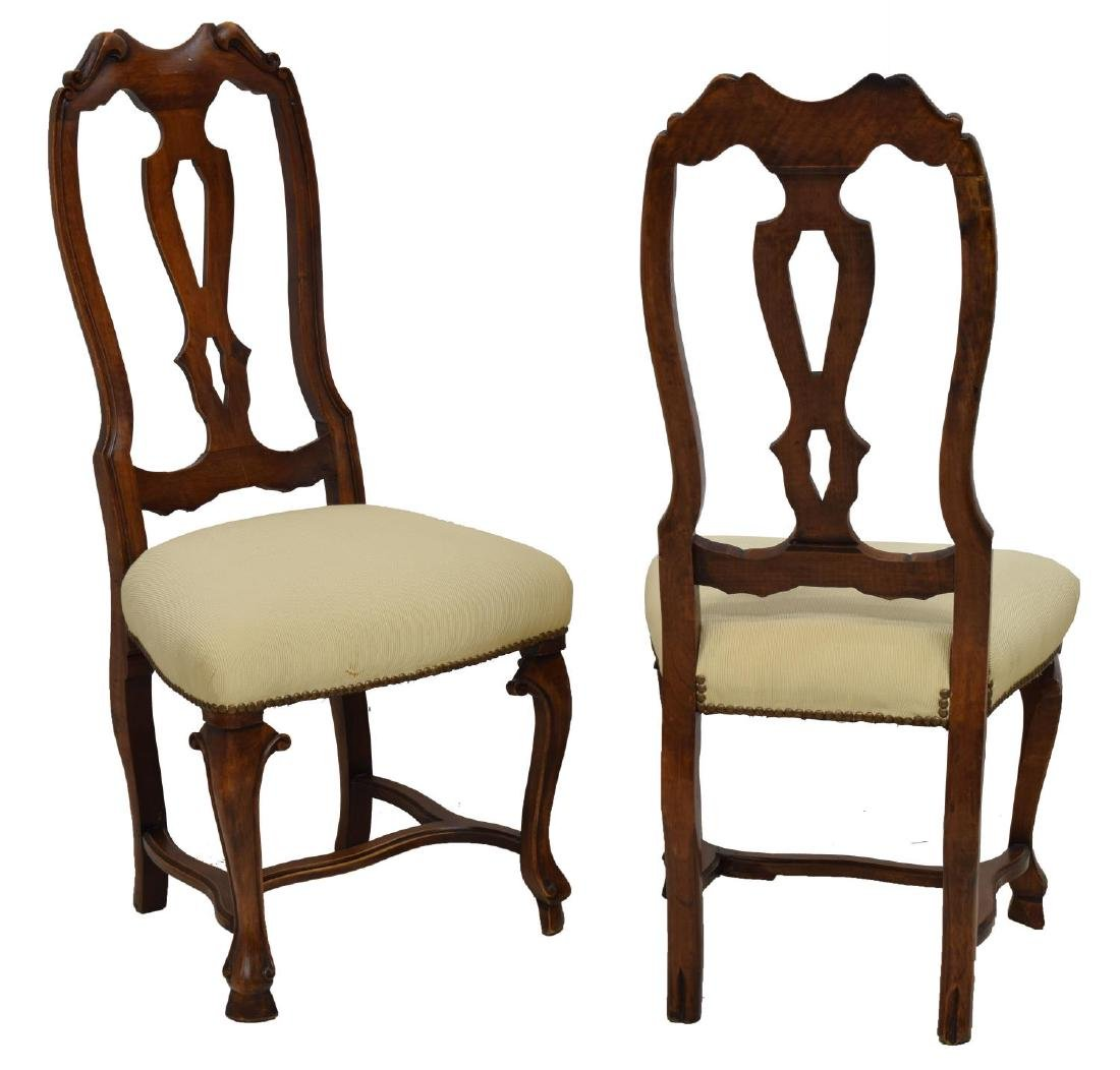 (6) ENGLISH WALNUT DINING CHAIRS - 2
