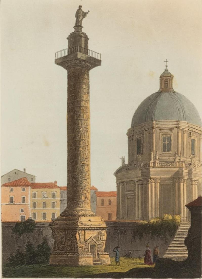 (2) JAMES MERIGOT (D.1824) VIEWS OF ROME AQUATINTS - 3