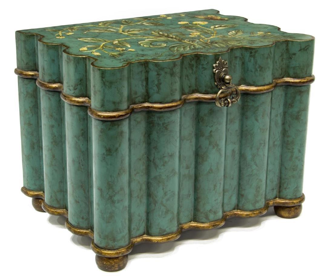 PARCEL GILT PAINTED TABLE BOX