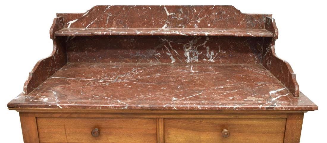 FRENCH MARBLE-TOP WALNUT WASH STAND CABINET - 3