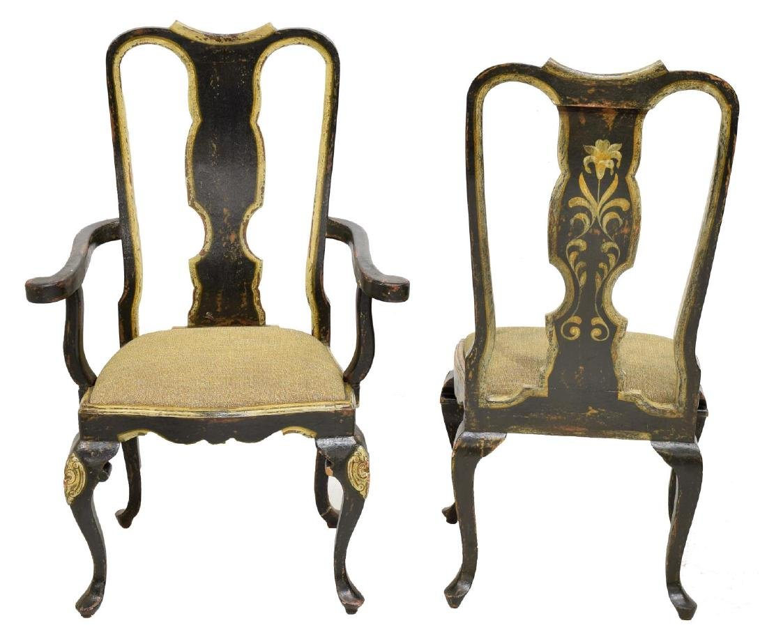 (6) QUEEN ANNE STYLE DINING CHAIRS, BRAZIL - 3