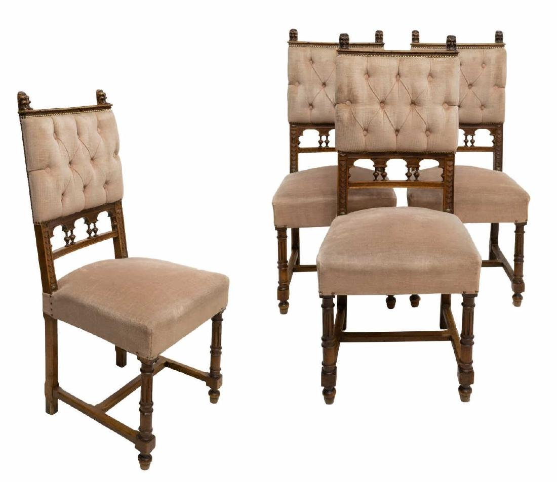 (4) CONTINENTAL BAROQUE STYLE DINING CHAIRS